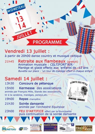 Affiche14 juillet 2018 Monéteau